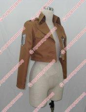 画像2: 進撃の巨人 リヴァイ 調査兵団 エレン・イェーガー ミカサ アルミン ジャケット コート コスプレ衣装 (2)