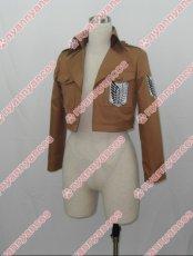 画像3: 進撃の巨人 リヴァイ 調査兵団 エレン・イェーガー ミカサ アルミン ジャケット コート コスプレ衣装 (3)