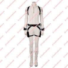 画像2: 高品質 実物撮影 ブラック ウィドウ ナターシャ ロマノフ 風 白いスーツ コスプレ衣装 コスプレ靴 ブーツ付き バラ売り可 (2)