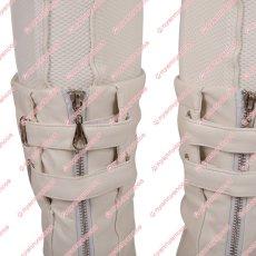 画像10: 高品質 実物撮影 ブラック ウィドウ ナターシャ ロマノフ 風 白いスーツ コスプレ衣装 コスプレ靴 ブーツ付き バラ売り可 (10)