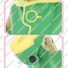 画像3: カードキャプターさくら クリアカード編 木之本桜 さくら 蛙戦闘服 バトルコスチューム 蛙色 靴カバー付 カエル  コスチューム コスプレ衣装 (3)