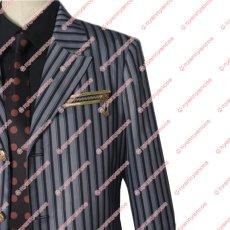 画像4: 高品質 実物撮影 ジョジョの奇妙な冒険 黄金の風 ディアボロ  風  スーツ  コスプレ衣装 コスチューム オーダーメイド (4)
