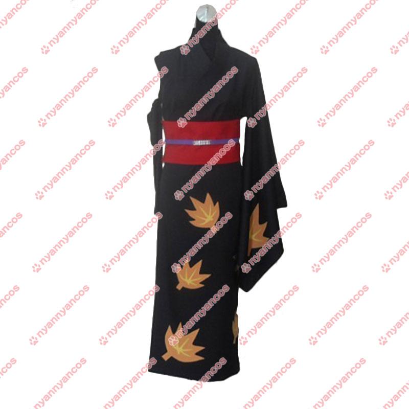 画像1: 高品質 実物撮影 銀魂 ぎんたま 月詠 和服  風  コスプレ衣装 コスチューム オーダーメイド (1)