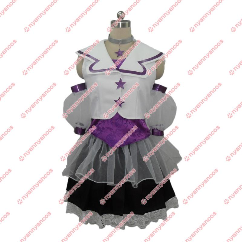 画像1: ももいろクローバーZ ももクロ Z女戦争 紫色 高城れに コスプレ衣装 (1)