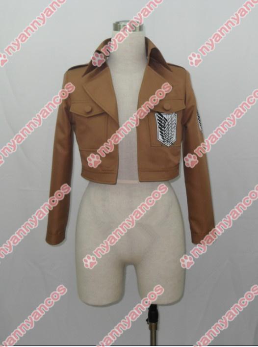 画像1: 進撃の巨人 リヴァイ 調査兵団 エレン・イェーガー ミカサ アルミン ジャケット コート コスプレ衣装 (1)