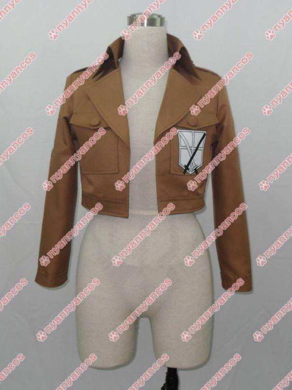 画像1: 進撃の巨人 リヴァイ 訓練兵団 エレン・イェーガー ミカサ アルミン ジャケット コート コスプレ衣装 (1)