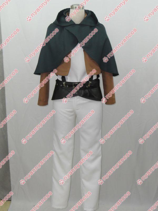 画像1: 進撃の巨人 リヴァイ 調査兵団 エレン・イェーガー コスプレ衣装 (1)