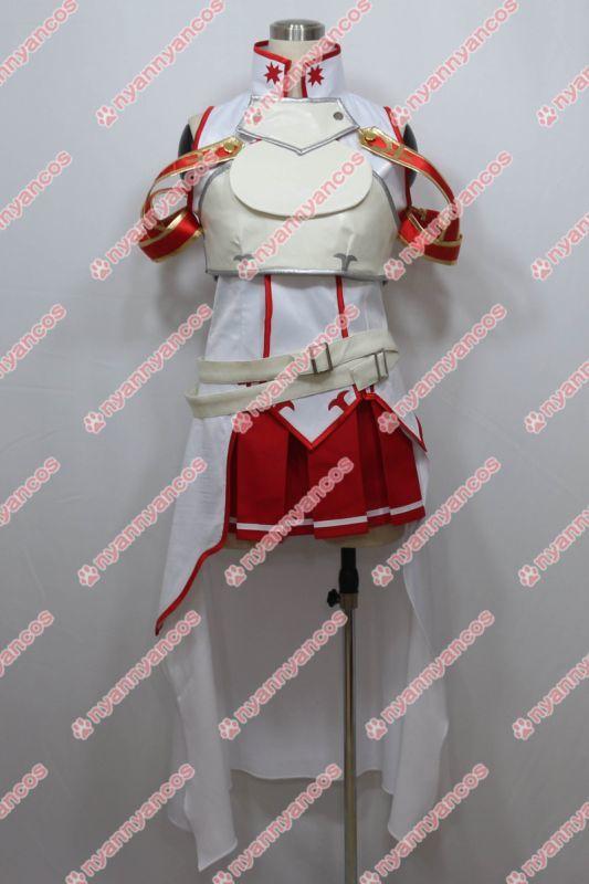 画像1: 高品質 実物撮影 ソードアート・オンライン SAO アスナ   風  コスプレ衣装 コスチューム オーダーメイド (1)