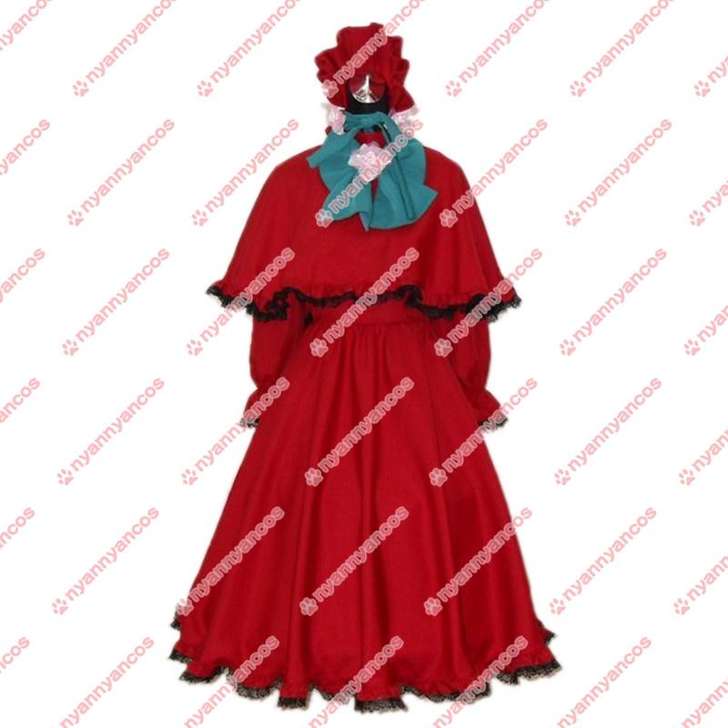 画像1: ローゼンメイデン 真紅 しんく コスプレ衣装 (1)