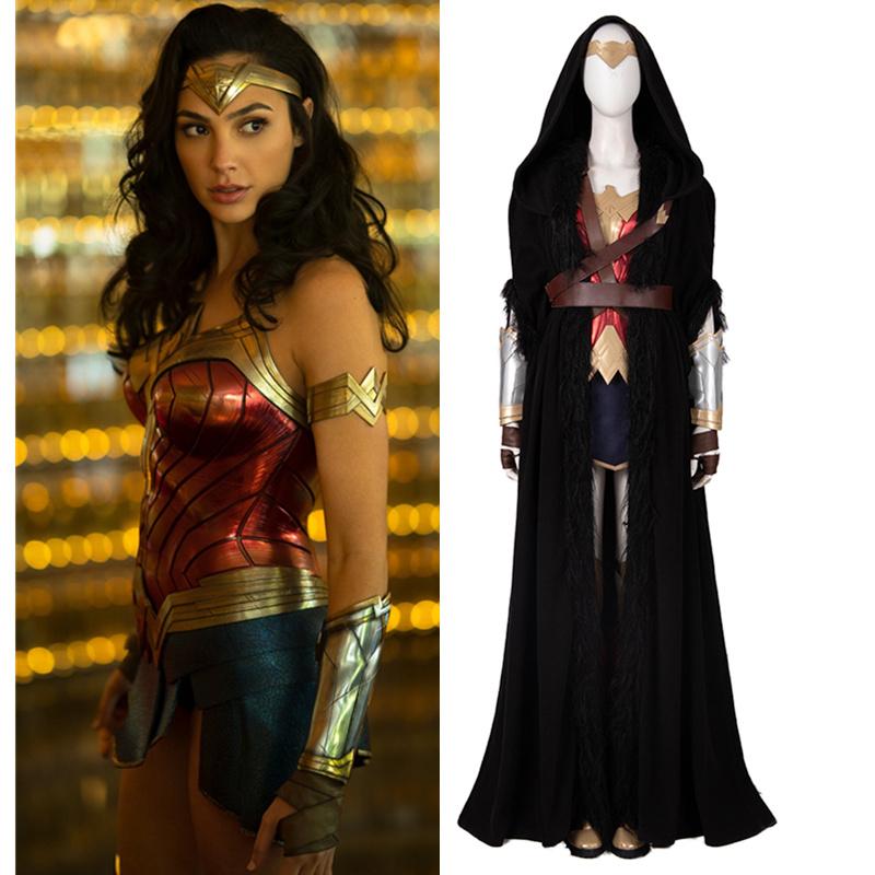 画像1: 高品質 実物撮影 2020映画 Wonder Woman 1984 ワンダーウーマン2 ダイアナ プリンス 風 コスプレ衣装 コスプレ靴 ブーツ付き バラ売り可 (1)