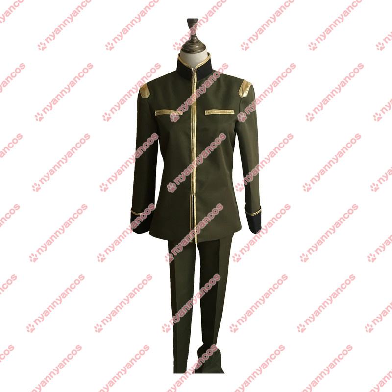 画像1: 機動戦士ガンダム THE ORIGIN III 暁の蜂起 エドワウ・マス シャア・アズナブル ガルマ・ザビ 軍服 制服  コスチューム コスプレ衣装 (1)