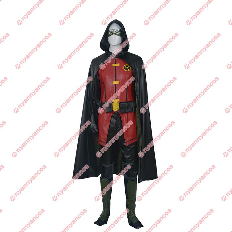 画像1: 高品質 実物撮影 ヤング・ジャスティス ティーン・タイタンズ ロビン コスプレ衣装 コスチューム オーダーメイド (1)