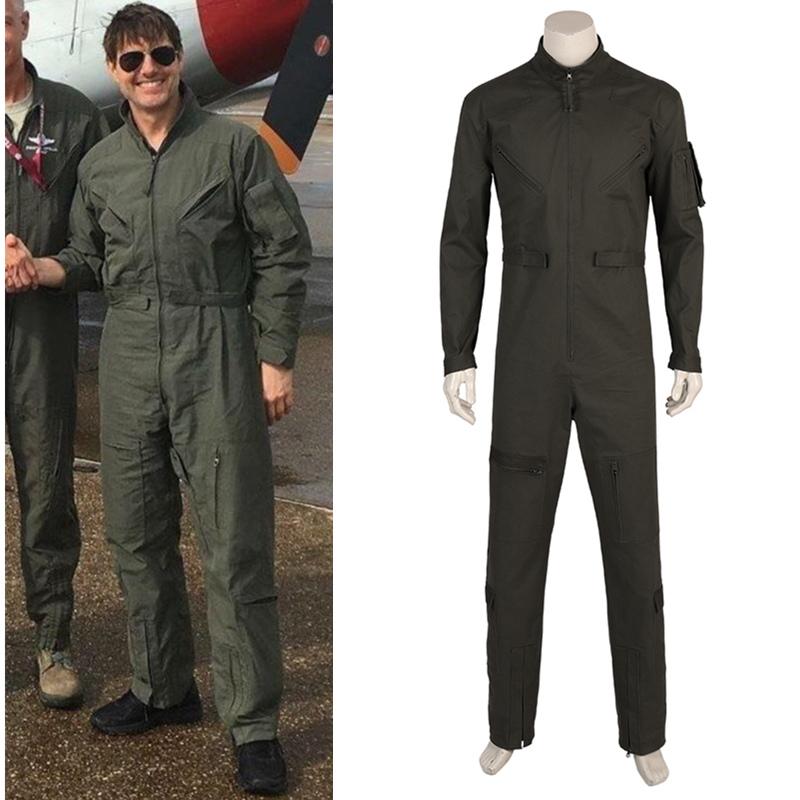 画像1: 高品質 実物撮影 Top Gun Maverick トップガン マーヴェリック ピート ミッチェル ジャンプスーツ コスプレ衣装  コスチューム オーダーメイド (1)