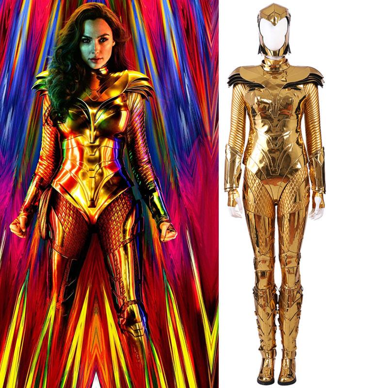 画像1: 高品質 実物撮影  ワンダーウーマン   ダイアナ プリンス 風  Wonder Woman 1984  2020映画   コスプレ衣装  コスプレ靴  ブーツ付き バラ売り可 (1)
