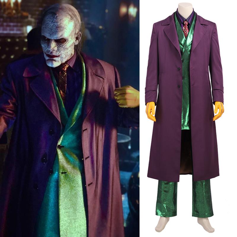 画像1: 高品質 実物撮影  ジョーカー Joker  風  ゴッサム GOTHAM シーズン5    ハロウィン コスプレ衣装  コスチューム オーダーメイド (1)