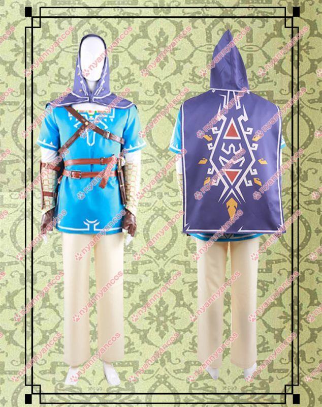画像1: 高品質 実物撮影 ゼルダの伝説 ブレス オブ ザ ワイルド リンク 風  コスプレ衣装 コスチューム オーダーメイド (1)