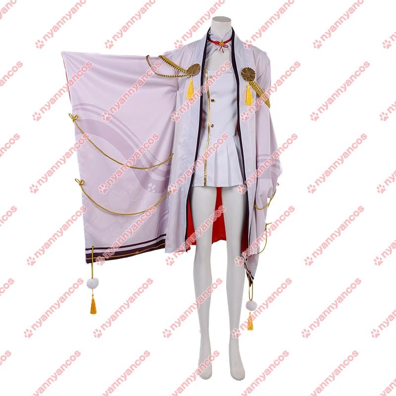 画像1: アズールレーン 比叡   風 コスチューム コスプレ衣装 (1)