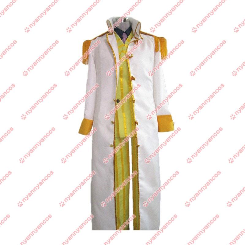 画像1: ONE PIECE ワンピース ボルサリーノ 黄猿 風 大将服 コスチューム コスプレ衣装 (1)