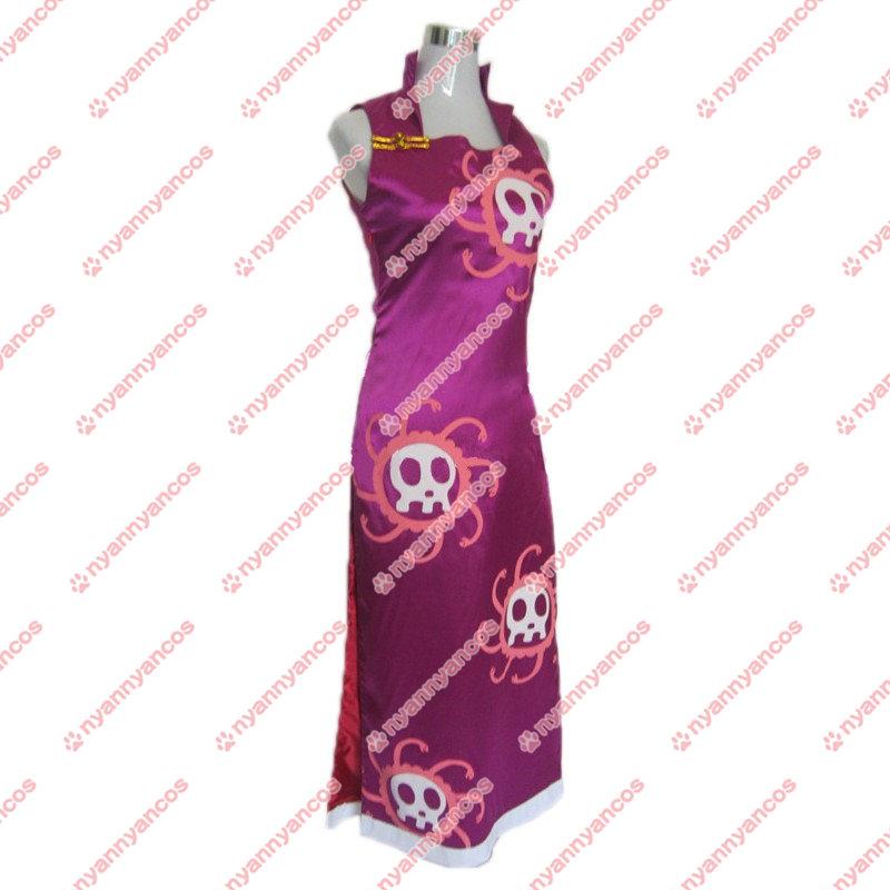 画像1: ONE PIECE ワンピース ボア・ハンコック チャイナドレス コスチューム コスプレ衣装 (1)