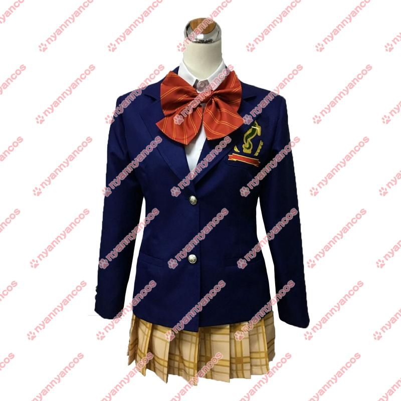 画像1: この音とまれ! 鳳月さとわ 時瀬高校女子制服 コスチューム コスプレ衣装 (1)