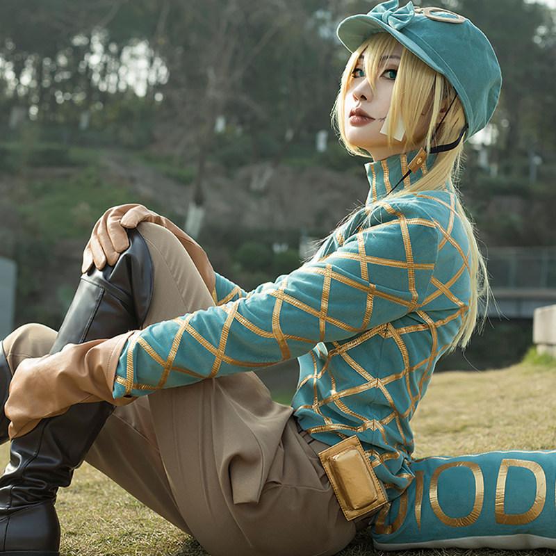 画像1: 高品質 実物撮影 ジョジョの奇妙な冒険  ディエゴ ブランドー Dio  風    コスプレ衣装 コスチューム オーダーメイド (1)